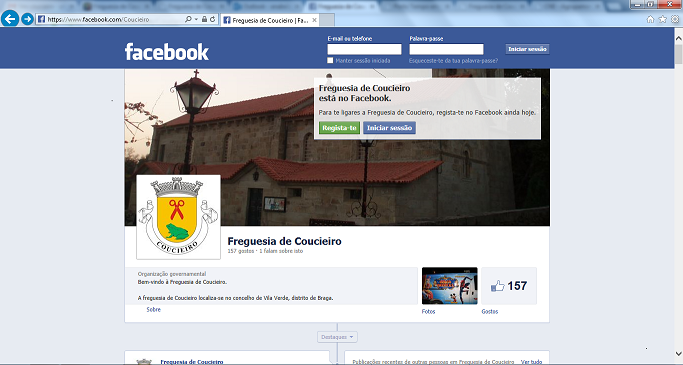 Página de Coucieiro no Facebook
